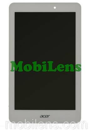 Acer A1-840, A1-840HD, Iconia Tab 8, B080UAN01.4 Дисплей+тачскрин(модуль) белый *в рамке, фото 2