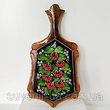 Доска кухонная с петриковской росписью