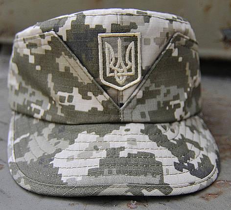 """Кепарик """"Мазепинка з гербом""""   Ukrpixel ріп-стоп, фото 2"""