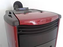 Пеллетная печь котел Nordica MELINDA IDRO бордовая, фото 2