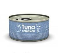 Naturea (Натуреа) Tuna & Chicken Консервы для кошек с тунцом и курицей 80гр