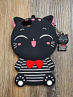 Объемный 3d силиконовый чехол для Iphone 6 Кошечка черная