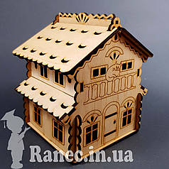 Деревянный домик шкатулка №9