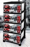 Пластиковый комод Лондон ELIF