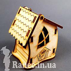 Деревянный домик шкатулка №12