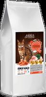 Сухой корм Home Food для взрослых котов с креветками и курицей 10кг