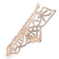 Ажурное кольцо APM Monaco Campanella в красной позолоте с цирконами на две фаланги