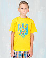 "Футболка дитяча ""Тризуб-Лего"" жовта"