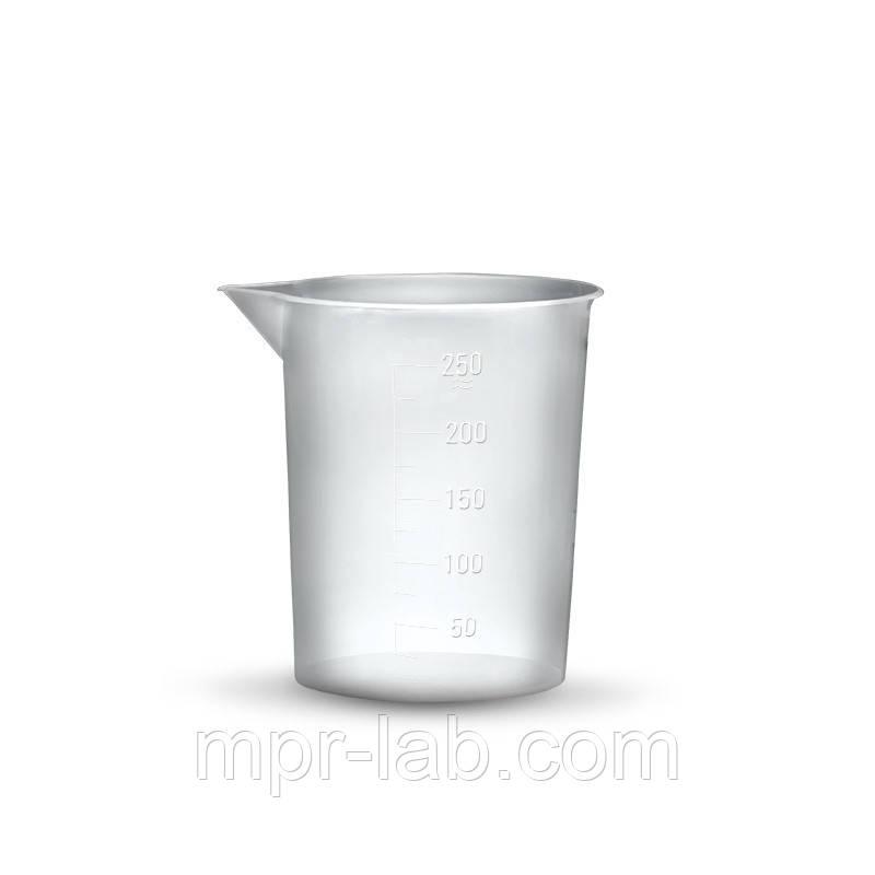 Стакан пластиковый 250мл (полипропилен) градуированый