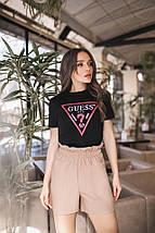 """Кожаные женские мини-шорты """"Regina"""" с карманами (3 цвета), фото 3"""