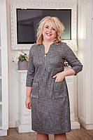 Милое платье рубашечного типа большого размера ботал