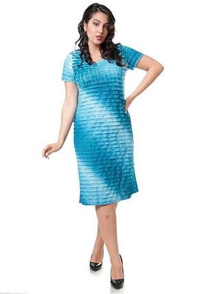 """Кружевное женское платье с короткими рукавами ткань """"Рюш"""" 50 размер батал, фото 2"""