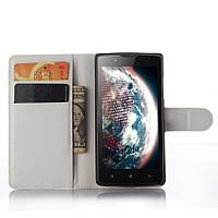 Чехол-книжка Litchie Wallet для Lenovo A2010 Белый