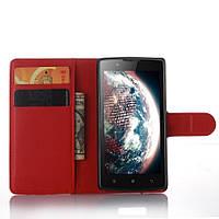 Чехол-книжка Litchie Wallet для Lenovo A2010 Красный