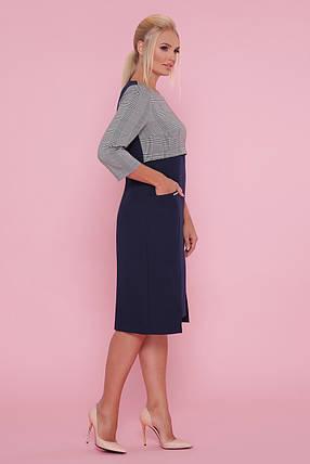Полу-приталенное платье в офисном стиле Большие размеры XL, XXL, XXXL, фото 2