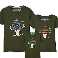 Семейные футболки для троих