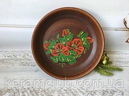 Настенное панно 22 см с цветочным рисунком маки