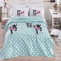 Комплект постельного белья Eponj Home Pike Boston Ментоловый