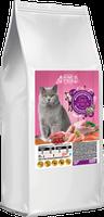 Сухой корм Home Food для взрослых британских котов с индейкой и телятиной 10кг
