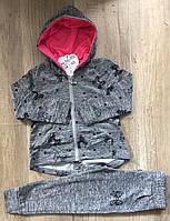 Трикотажный костюм 2 в 1 для девочек оптом, S&D, 98-128 см,  № CH-3679, фото 1