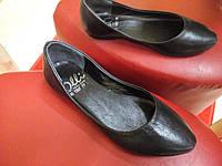 Балетки кожаные черные OLLI