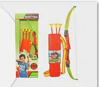 Лук детский с колчаном и стрелами 3 шт, большой набор, Archery Set Sho Tins, фото 1