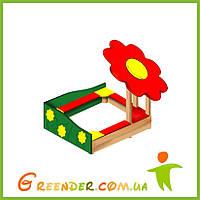 Песочницы детские деревянные «Цветочек», фото 1