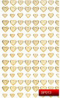 Nail Art Stickers SP013 Gold