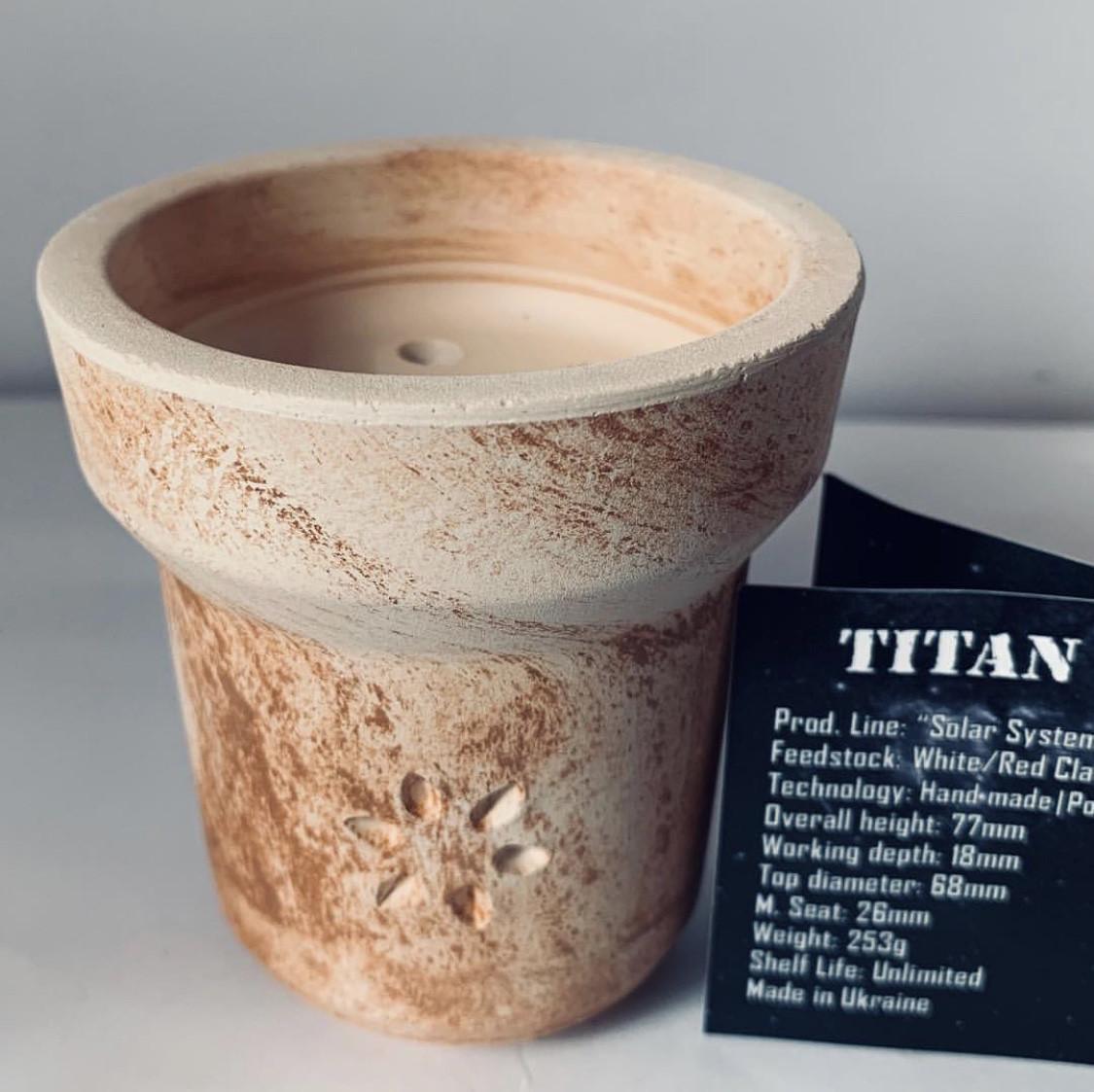 Глиняная чаша для кальяна Solaris (Солярис) - Titan