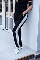 Женские модные брюки с лампасами (в расцветках)