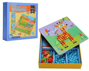"Мозаика с трафаретами ""Забавные животные"" MiDeer Toys"