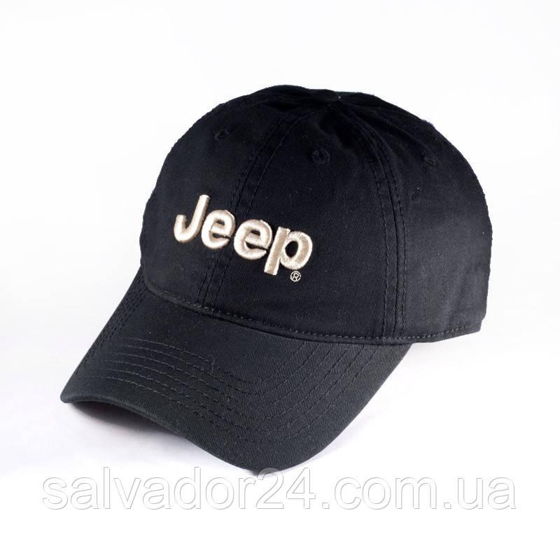 Бейсболка, кепка Jeep черная