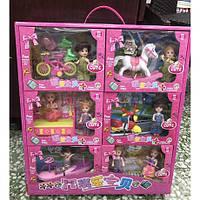 Детская игрушка. Наборы куколок с транспортом