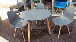 Обідній стіл в скандинавському стилі Verdi d-80, колір сірий