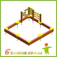 Песочница с развивающими элементами детская игровая