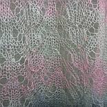 Палантин Колосок П-00054, біло-рожево-сірий , оренбурзький шарф (палантин) козячий пух, фото 7