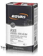 Rovas RX5 Diesel 10W-40 B4 Полусинтетическое моторное масло для легковых автомобилей (1 литр)
