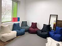 Огромное кресло Босс, мебельная ткань Рогожка