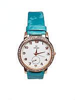Часы женские кварцевые Ger I Dun Кружок Голубой