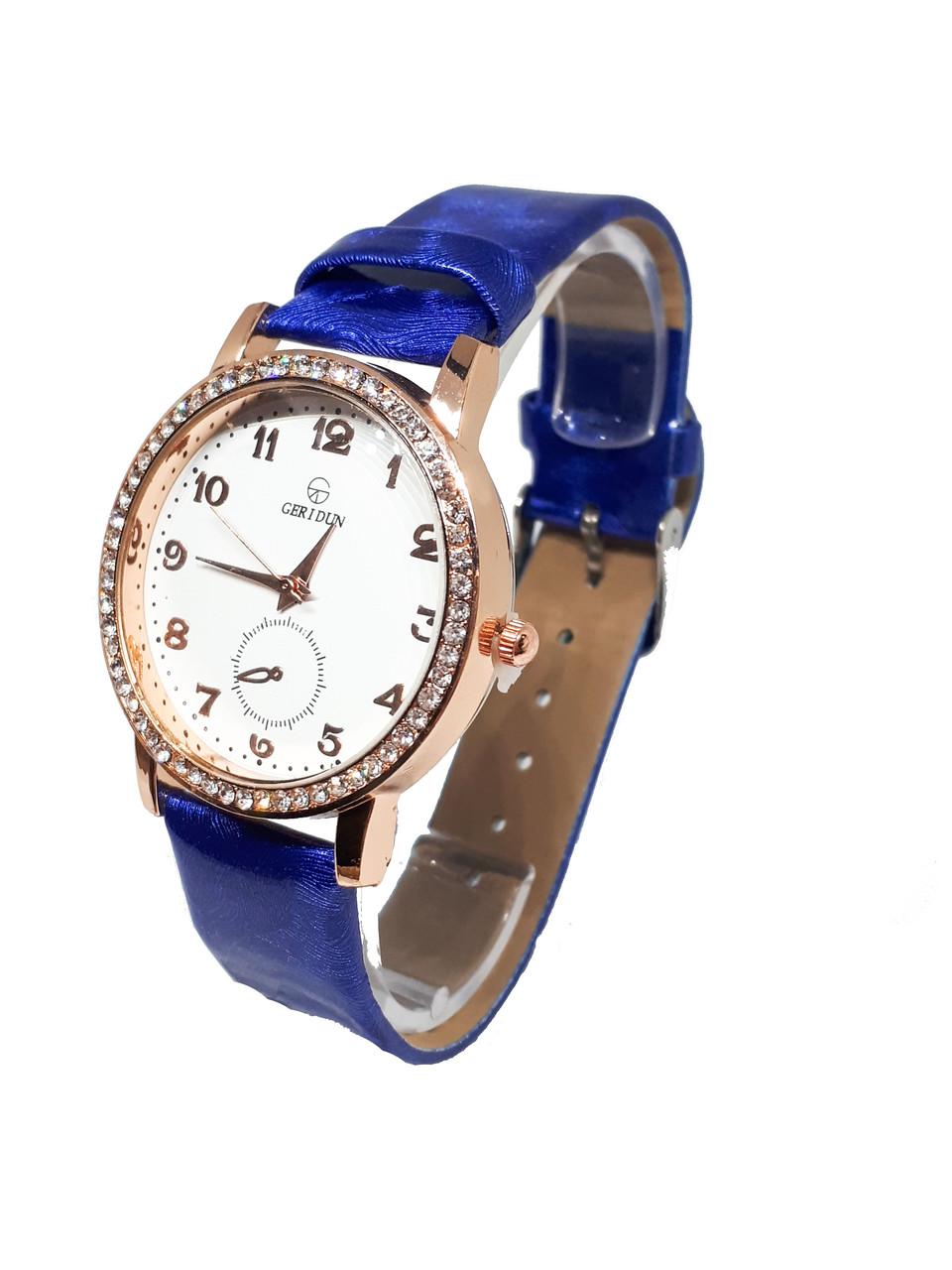 Часы женские кварцевые Ger I Dun Кружок Синий