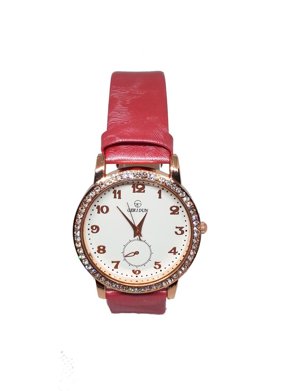 Часы женские кварцевые Ger I Dun Кружок Розовый