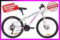 """Велосипед 26"""" Formula MYSTIQUE 1.0 DD 2019 (бело-голубой с фиолетовым)"""