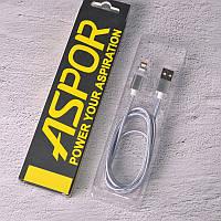 USB-кабель Aspor AM-102 Magnetic Micro (1m) silver
