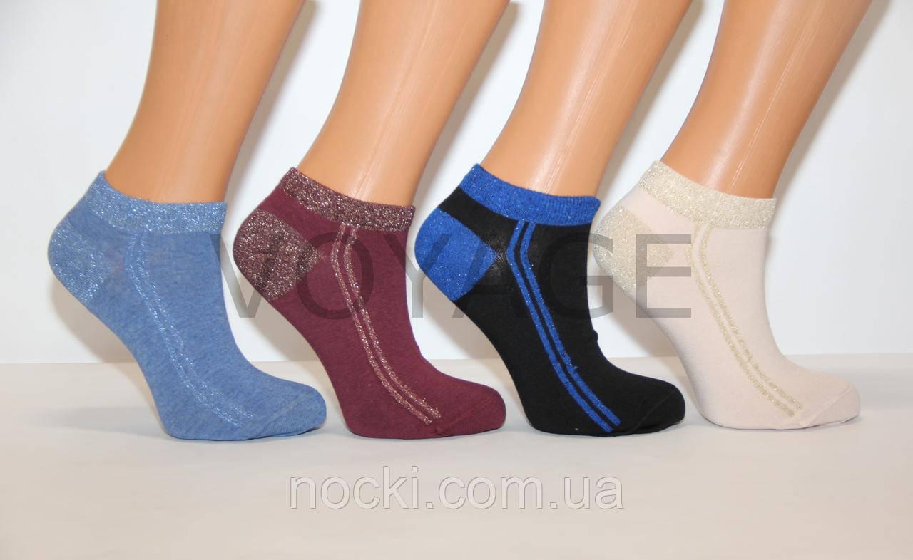 Женские носки с люрексом ЕКМЕN короткие