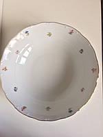 Салатник порцеляновий 26 см кругла (набір 5 шт) Дрібні квіти Jeremy Чехия