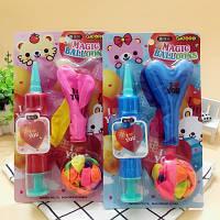 Детская игрушка. Надувные шарики с насосом