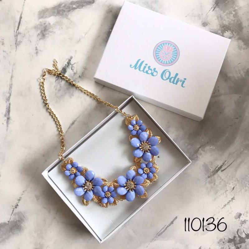 Колье Жаннет голубое