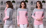 Кофта-джемпер жіночий рожева 42-48, фото 1