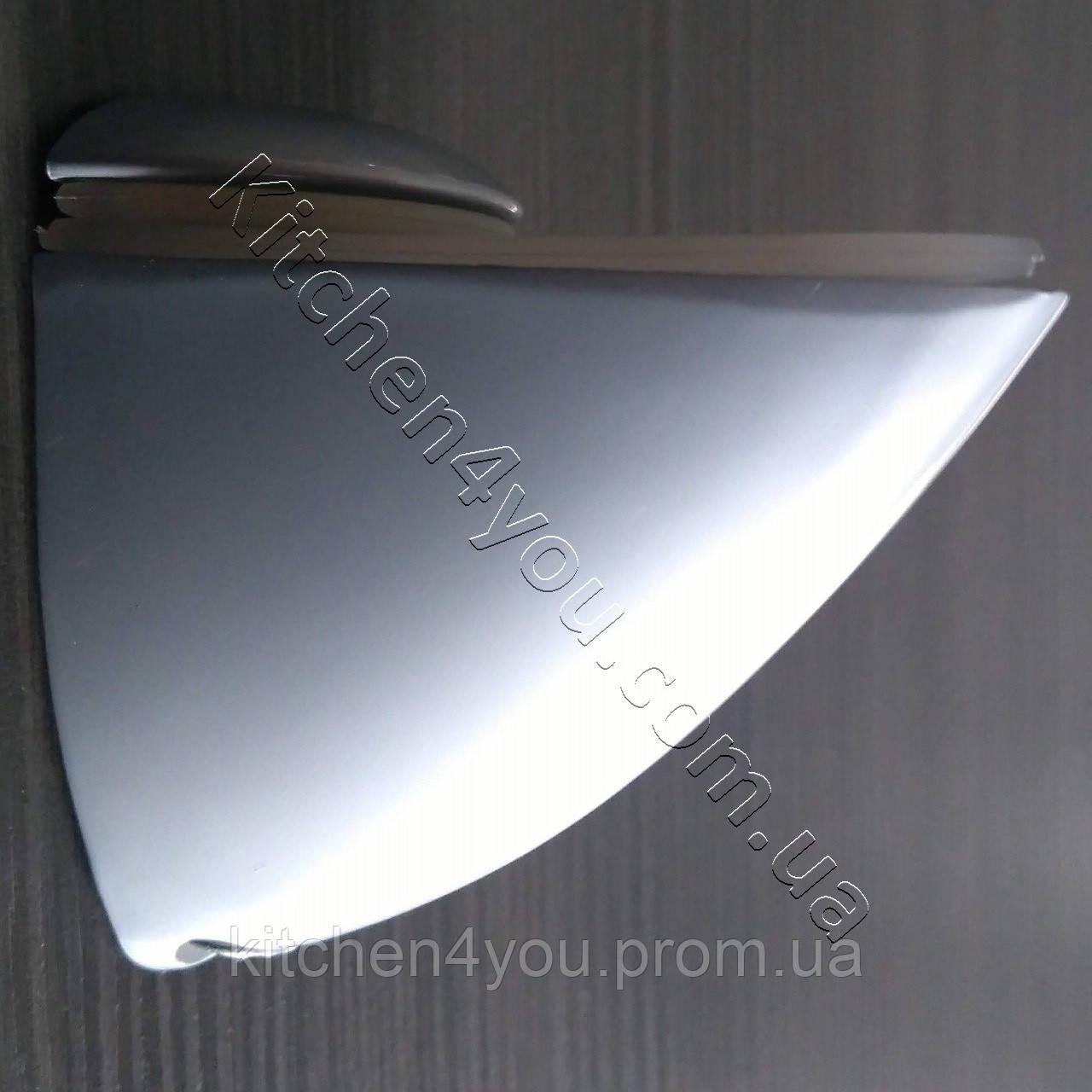 Стеклодержатель пеликан средний М 50х50 мм. матовый хром