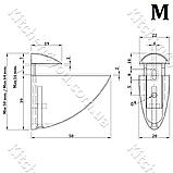 Стеклодержатель пеликан средний М 50х50 мм. матовый хром, фото 2